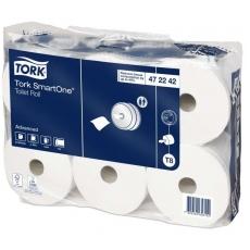 Купить Туалетная бумага и накладки Tork SmartOne в рулонах  0,134х207 м, белая, T8