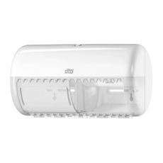 Купить Диспенсер для туалетной бумаги Tork в стандартных рулонах, на 2 рул, 153х286х158 мм, белый, Т4
