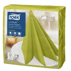 Купить Салфетка для ужина Tork Premium LinStyle фисташкового цвета, 390х390 мм, 50 шт/уп (12 шт/ящ)