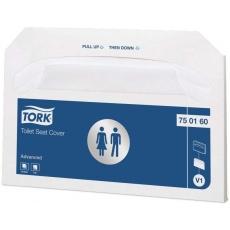 Купить Индивидуальные бумажные покрытия на унитаз Tork, 362х419 мм, белые, V1 (250 шт/уп, 20 шт/ящ)