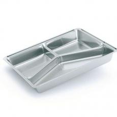 Купить Контейнер алюминиевый трехсекционный 190/220/160 мл, M6L, 100 шт/уп. 227x177х30 мм (крышка 904-0043)