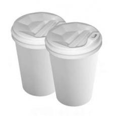 Купить Стакан двухслойный белый 250 мл, 25 шт/уп (крышка 79 мм)