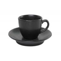 Porland Seasons Black Чашка кофейная с блюдцем 80 мл в интернет магазине профессиональной посуды и оборудования Accord Group