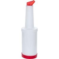 Купить Бутылка для дрессинга 1 л (красная крышка) Stalgast 473811