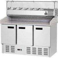 Купить Стол холодильный для пиццы Stalgast, 3-х дверный, с гранитной поверхностью и надставкой 843032