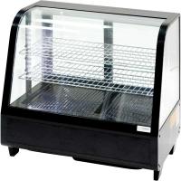 Витрина холодильная настольная Stalgast, 100 л, черная, с LED подсветкой, 852104 в интернет магазине профессиональной посуды и оборудования Accord Group